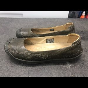 Keen Women's Gray Leather Loafers Slip On Shoes